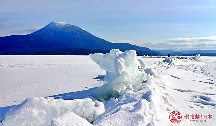 北海道道東三湖必玩雪上活動推薦推介雪上自行車單車可以看到的御神度