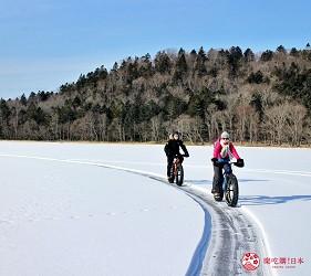 北海道道東三湖必玩雪上活動推薦推介雪上自行車單車