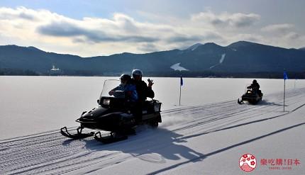 北海道道東三湖必玩雪上活動推薦推介雪上摩托車電單車雙載兩人同騎