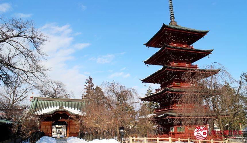 北海道函馆青森弘前行程推荐推介滑雪温泉雪樱点灯日本北国风情体验金刚山最胜院的五重塔