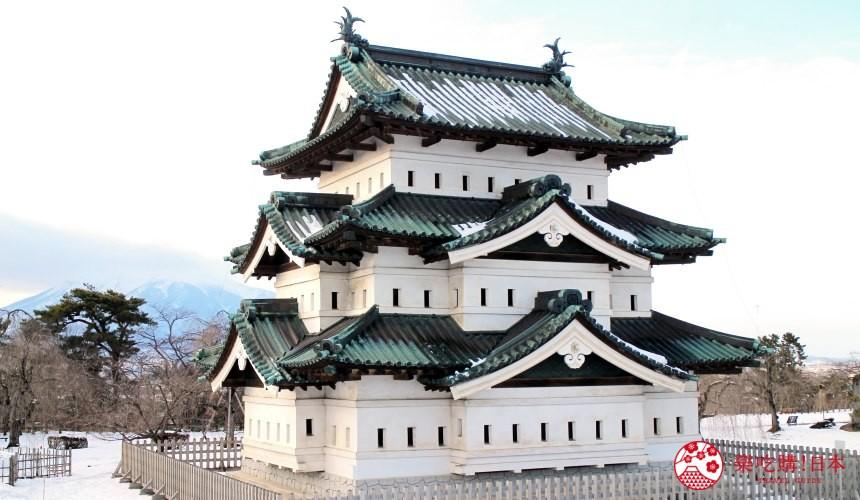 北海道函馆青森弘前行程推荐推介滑雪温泉雪樱点灯日本北国风情体验弘前公园内的弘前城
