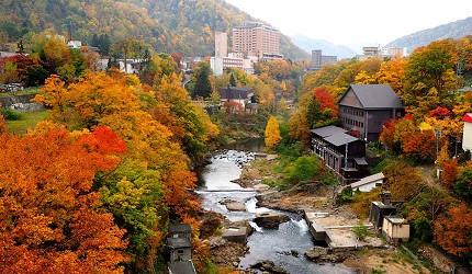 北海道札幌定山溪溫泉景色