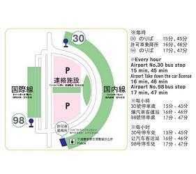 新千岁机场旁,北海道必逛最大购物城「Chitose Outlet Mall Rera」的免费机场接送巴士地图
