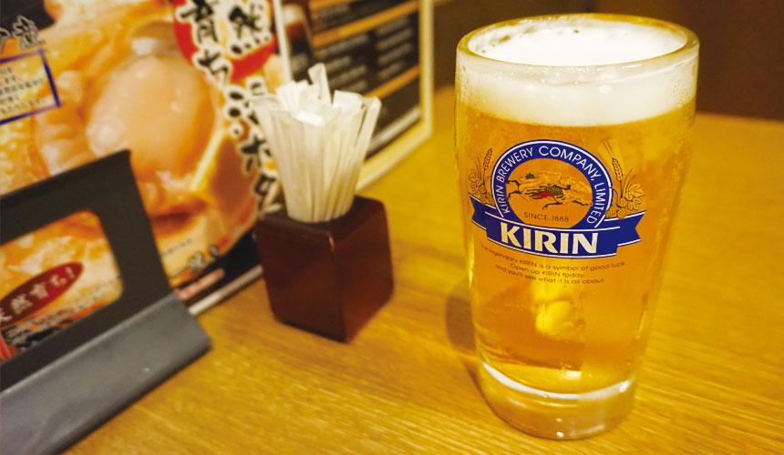 札幌生啤酒成吉思汗烤肉、螃蟹與和牛店家推薦「麒麟啤酒園」的啤酒照